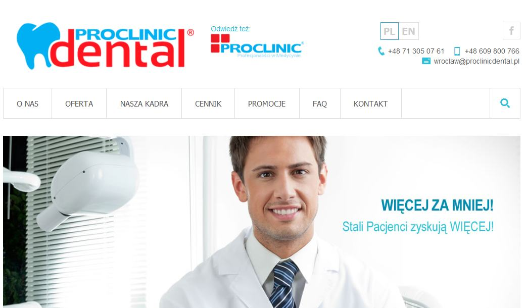 Strona ProClinic Dental